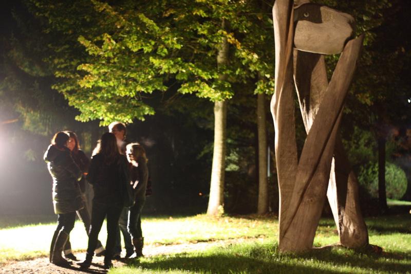 Skulpturengarten Kunstnacht (2010) Stein/Holzskulptur: Falko Jahn