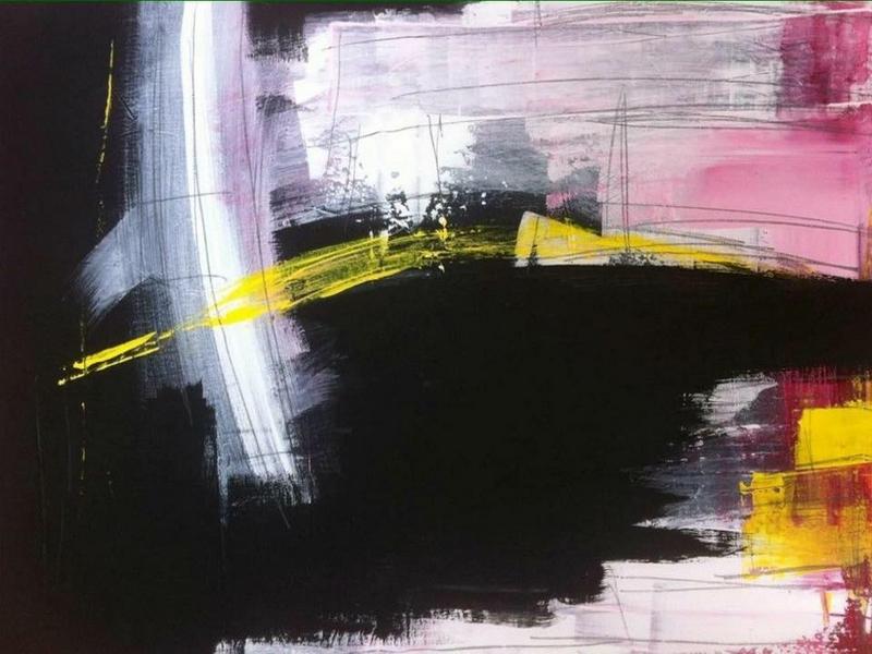 Martina Hatzelmann: Kontraste (2014) Acryl auf Leinwand, 70x100cm