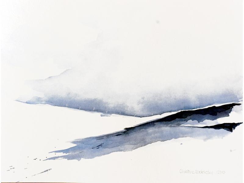 Christine Kostelezky: Bei Scheidegg Schneelandschaft