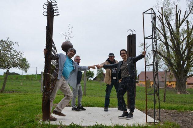 Pillars of Freedom: Mirko Siakhou-Flodin, Dietmar Hawran, Markus Meyer, Diana Hessenthaler